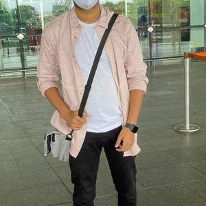 ZARA Men's Babypink Shirt Jacket